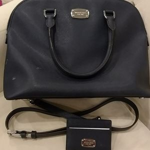 Michael kors purse with wallet navy color